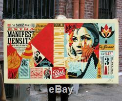 Shepard Fairey Endommagé Wrong Path Mural Grand Format Signé En Édition Limitée / 75
