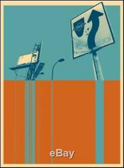 Shepard Fairey Obey 2005 Stay Up Sérigraphie Numérotée Signée Rare Banksy Kaws