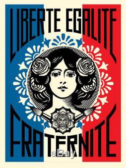 Shepard Fairey Obey Géant Liberté Egalite Tirage Fraternite Signé Numéroté / 450
