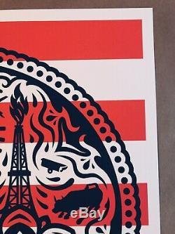 Shepard Fairey Obey Géant Merica Power Et Glory Yerena Tirage Numéroté Et Signé