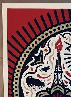 Shepard Fairey Obey Gere Power Et Glory Red Yerena Estampe Numérotée Signée