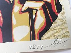 Shepard Fairey Obey Ressort Naturel Signé. Menthe