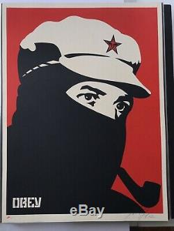 Shepard Fairey Signé Obey Comandante Marcos 2002 Affiche Sn Affiche Hope Obama Art