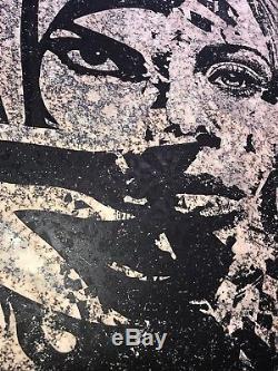 Shepard Fairey Vhils Signé Universal Personhood Imprimer Affiche Obey Muslim Woman