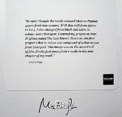Signé Martin Parr Liverpool Premier Travail En Couleurs 6 X 6 Imprimé Archivé Magnum