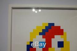 Space Invader 2014 Jaune Signé Aladdin Sane Imprimé Prisonnier De Guerre Kaws Banksy Obey
