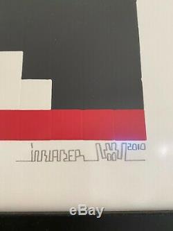 Space Invader Imprimer Accueil Mars 42 X 29,5 CM Preuve D'achat Inclus