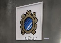 Space Invader Signé Imprimé Sur L'influence Versailles Bleu Miroir 2x / 100