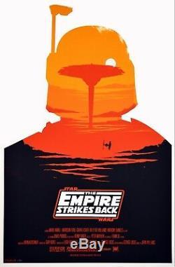 Star Wars De Olly Moss Série De 3 Gravures Rare Épuisé Mondo Print