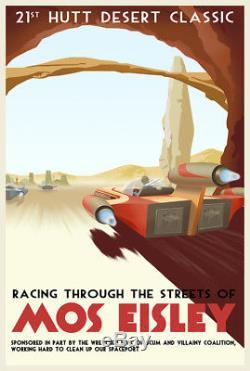 Star Wars Racing À Travers Les Rues De Mos Eisley Steve Thomas Le 150 27x18