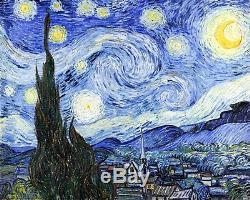 Starry Night De Vincent Van Gogh Giclee Museum Taille Repro Sur Toile
