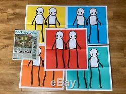 Stik 2020 Affiches Complète De Hackney Aujourd'hui, Rouge, Orange, Jaune, Bleu Gris Et Bl