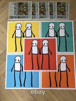 Stik Hackney Affiche Aujourd'hui Full Set Fantastic État Avec Banksy Pic