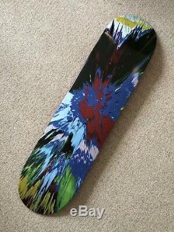 Supreme Damien Hirst Skateboard Deck Spin Painting Edition Rare Limitée