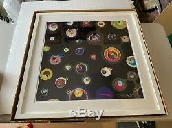 Takashi Murakami'jellyfish Black Eyes 3 Encadré. Signé. Édition Limitée