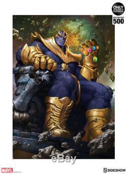 Thanos On Throne Variant Reproduction D'art Par Sideshow Collectibles Unframed Épuisé