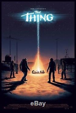 The Thing Mondo - Sérigraphie D'art Sur Des Affiches Matt Ferguson Pcc Goulot D'étranglement Limité