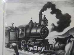 Thomas Hart Benton Train Lent À Travers L'arkansas 1941 Lithographie