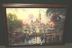 Thomas Kinkade Disneyland 50e Anniversaire 18x27 Numéro Standard En Loupe CC