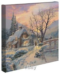 Thomas Kinkade Holiday Collection 14 X 14 Tendue Toile (choix De 4)
