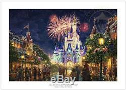 Thomas Kinkade Studios Main Street USA Disney World Resort 18 X 27 S / N Le Papier