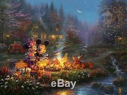 Thomas Kinkade Studios Mickey Mouse Jeu De Prints Art 7 Valentine Chérie