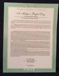 Thomas Kinkade Studios Une Journée De Fête Des Mères 18 X 24 Sn Limited Edition Paper