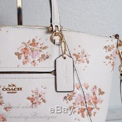 Tn-o Coach 91603 Cuir Prairie Satchel Avec Bouquet De Roses À Chalk Imprimer