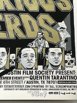 Tyler Stout Signé Inglourious Basterds Variant Mondo Film Print Art The Thing