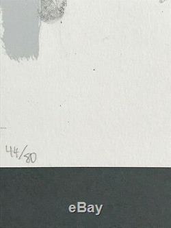 Vente! Eddie Martinez Signée À La Main Numéroté Lithographie 44/80 Cadre En Verre Musée