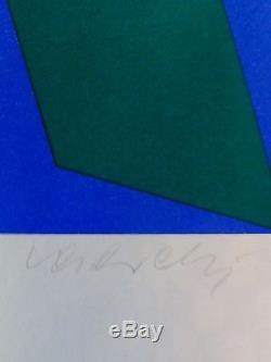 Victor Vasarely Fondation Maeght Signée À La Main Edition Numérotée 56/200 Sérigraphie