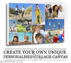Votre Photo / Photo Personnalisés A4 A3 Collage Toile A2 A1 A0 320gsm Cadre 18mm