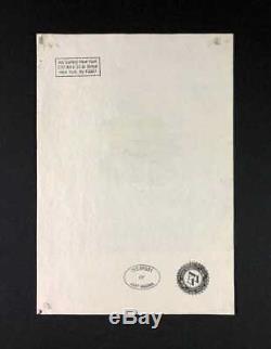 Warhol Originale Andy Hand Drawn Et Signé Apple / Mac Circa 1984 Gouache Sur Papier