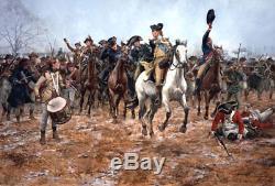 Washington À La Bataille De Princeton 1777 Par Don Troiani